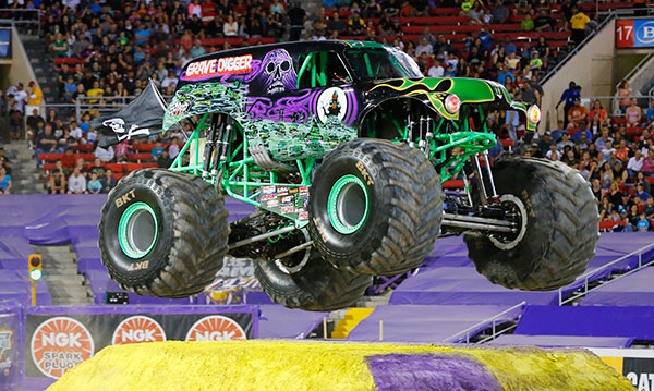 Grave Digger performs at Monster Jam