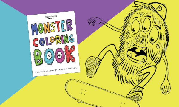 Download A Free Monster Coloring Book For Kids - Detroit And Ann Arbor  Metro Parent