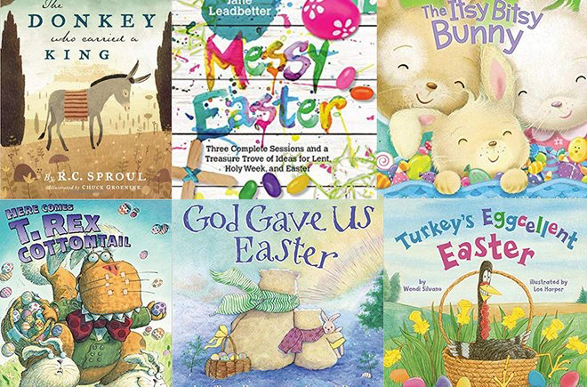 a collage of easter books for kids