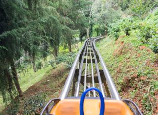 POV of a mountain coaster