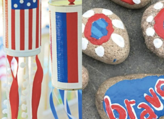 Images of two Pinterest-worthy Memorial Day crafts