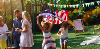 Kids at a Fourth of July party