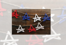 Popsicle stick star banner