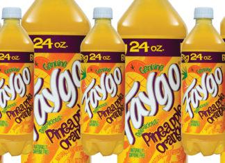 Bottles of Faygo Pineapple Orange