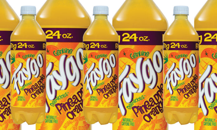 Bottles of Faygo Pineapple Orange