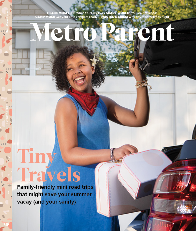 The July 2020 cover of Metro Parent