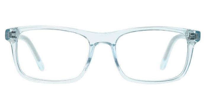A blue pear of blue light glasses from pixel eyewear