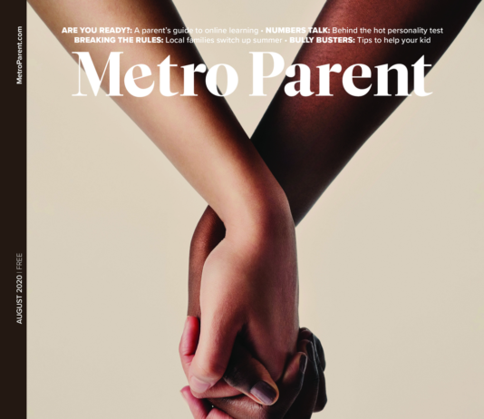 The August 2020 cover of Metro Parent