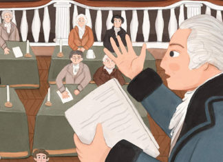 Illustration from the cover of one of the books for young Hamilton fans
