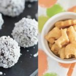 Collage of two healthy DIY snack recipes