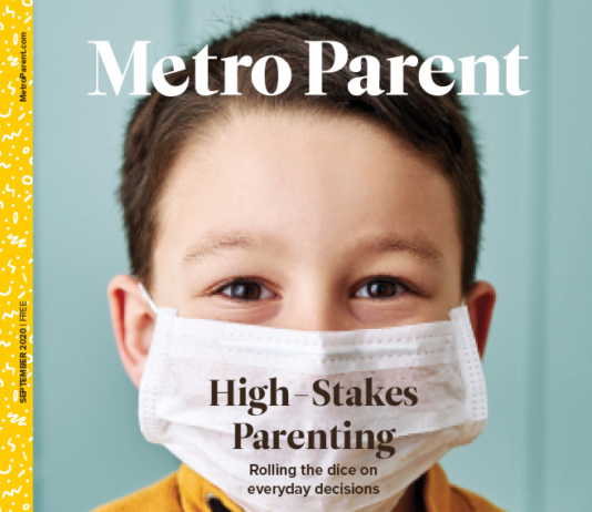 The cover from the September 2020 issue of Metro Parent