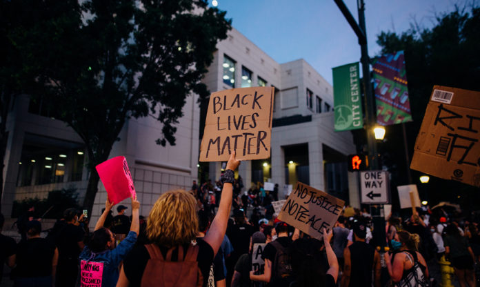 An image of a Black Lives Matter protest