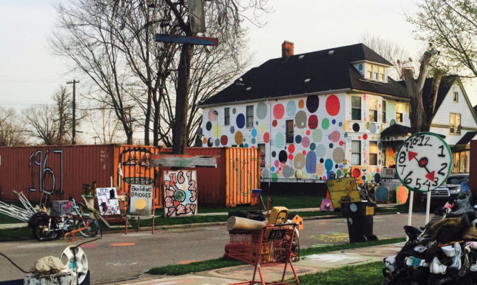 An image of one of the houses in the Heidelberg Project