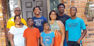 A photo of Ayana Knox-Potts' family
