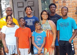 A photo of Ayana Knox-Potts' family