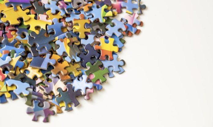spilled puzzle pieces