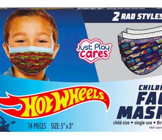 A box of Hot Wheels Face Masks