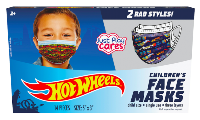 A box of Hot Wheels Face Masks