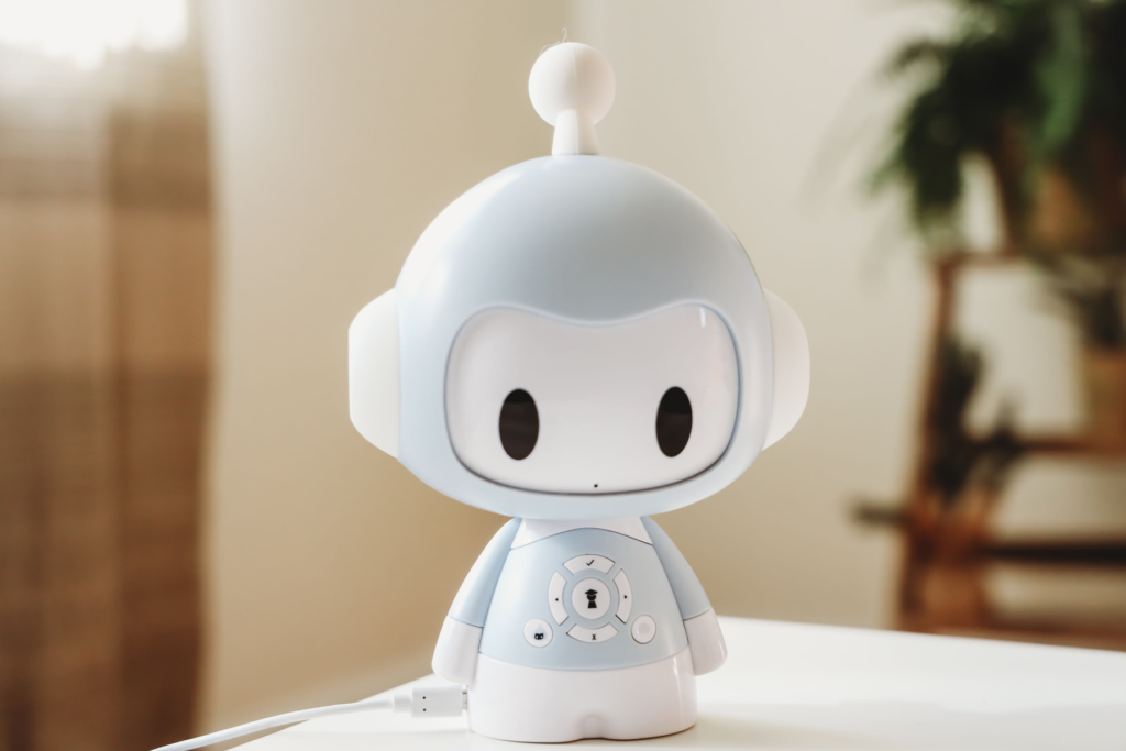 Image of Codi the robot on a table
