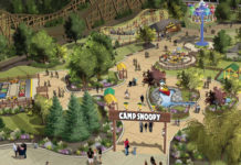 Illustration of Michigan's Adventure's new kids area
