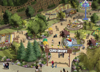 Illustration of Michigan's Adventure's new kids area