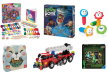 Collage of gift guide toys