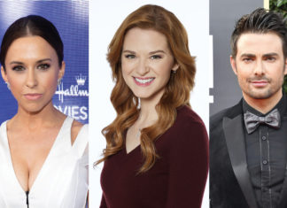 Three main characters from the hallmark channel movies