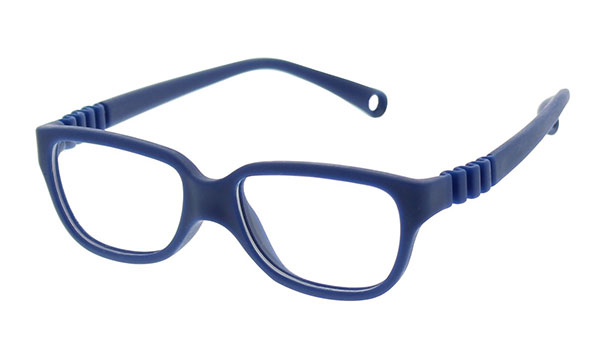 Pair of blue glasses for kids on a white background