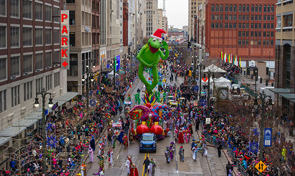 Kermit the Frog float at America's Thanksgiving Day Parade