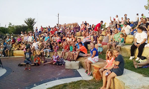 audience for a show put on at the Dexter Daze festival