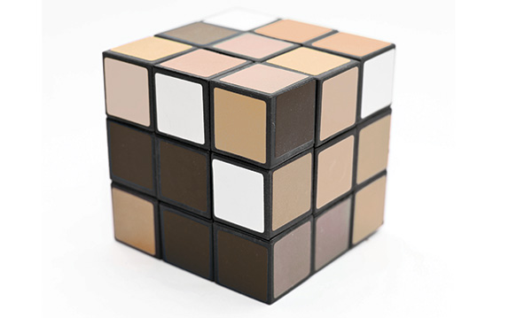 A Rubik's cube with shades of brown