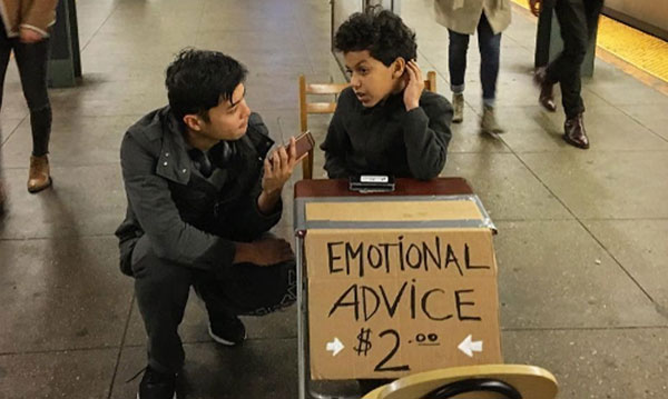 11-Year-Old Offers 'Emotional Advice' to Adults in Subway Station