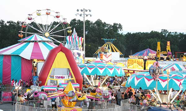 The midway at the Livonia Spree