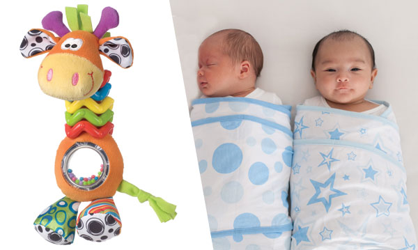Win Miracle Blanket and Playgro Bead Buddy Giraffe