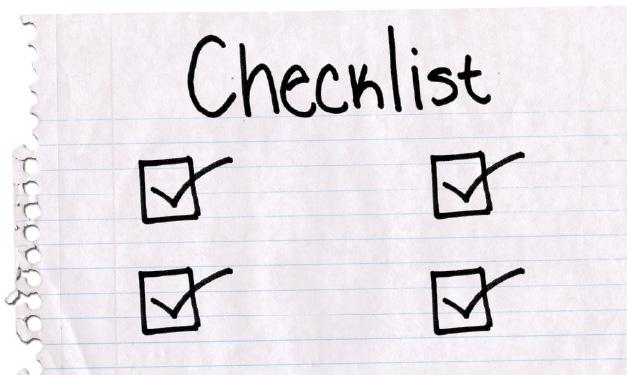 Finding a school checklist