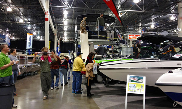 Novi boat show at the suburban collection showplace