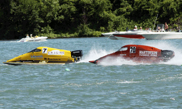 Boats racing at Trenton's Roar on the River