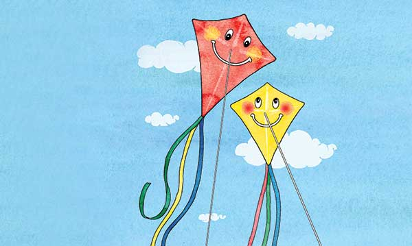 Mom and child kite hanging out