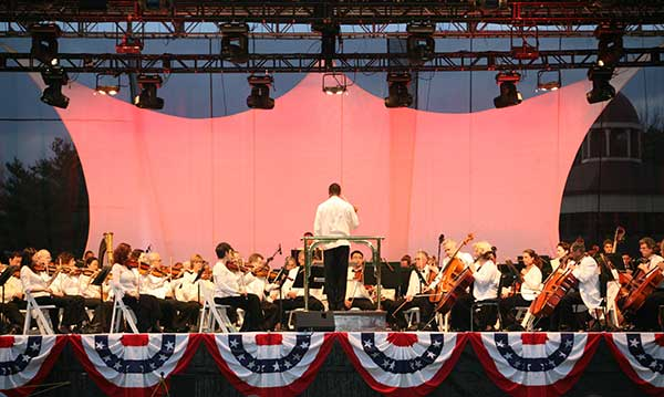Musical show at Greenfield Village's Salute to America