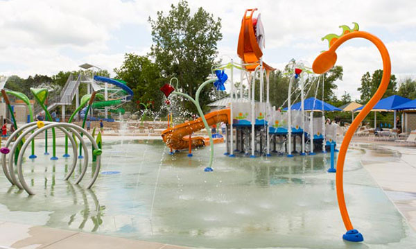 A splash park in Michigan