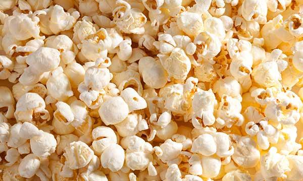 A close-up of popcorn
