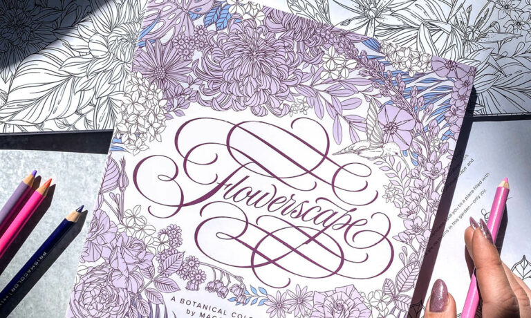 Win a Flowerscape Coloring Book